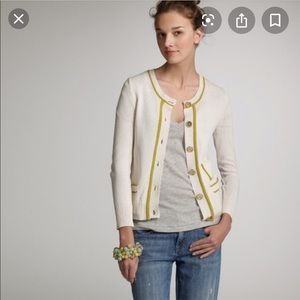 J Crew Cotton Cricket Cardigan NWT
